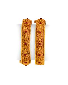 vbj-a-106j | Floret Sequence Antique Gold Kada Set