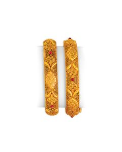vbj-a-107i | Antique Paramparik Gold Kada Set