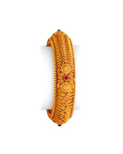 vbj-a-108c | Antique Floral Motif Gold Kada