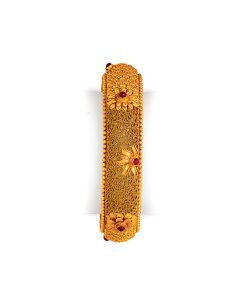 vbj-a-108l | Antique Fern and Petal Gold Kada Set