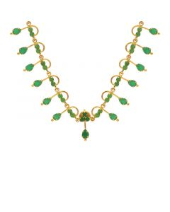10VG3749 | Gold Fancy Emerald Necklace 10VG3749