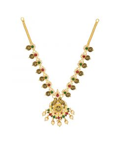10VG4079 | 22Kt Gold Ruby Emerald Necklace 10VG4079