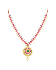110VG3976 | 22KT Grand Ruby Gold Necklace 110VG3976