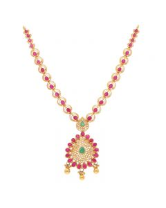 110VG4056   22KT Concentric Ruby Necklace 110VG4056