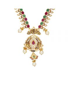 110VG4439   Vaibhav Jewellers 22K Ruby Emerald GoldNecklace 110VG4439
