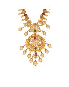 110VG4983 | Vaibhav Jewellers 22K Gold Ruby Emerald Cz Necklace 110VG4983