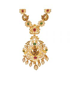 110VG4997 | Vaibhav Jewellers 22K Gold Ruby Emerald Cz Necklace 110VG4997