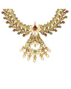 110VG5172 | Vaibhav Jewellers 22K Ruby Emerald GoldNecklace 110VG5172