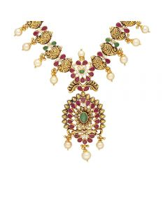 110VG5181 | Vaibhav Jewellers 22K Ruby Emerald GoldNecklace 110VG5181