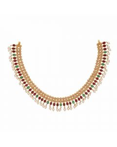 117MP550 | Vaibhav Jewelles 22K Polki Gold Necklace 117MP550