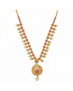 117VG485 | Vaibhav Jewelles 22K Polki Gold Necklace 117VG485