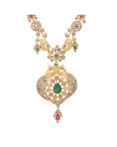 117VG506 | Gemstone Studded Antique Polki Necklace