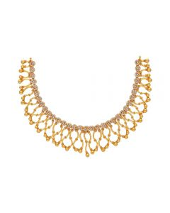 117VG512 | 22K Antique Polki Gold Necklace 117VG512