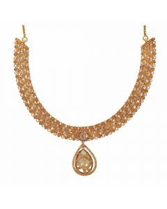 117VG533 | Vaibhav Jewelles 22K Polki Gold Necklace 117VG533