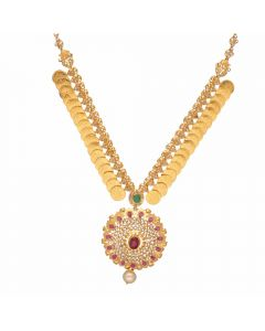 117VG537 | Vaibhav Jewelles 22K Polki Gold Necklace 117VG537
