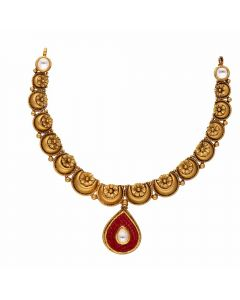 123VG2368 | Vaibhav Jewellers Antique Gold Necklace 123VG2368