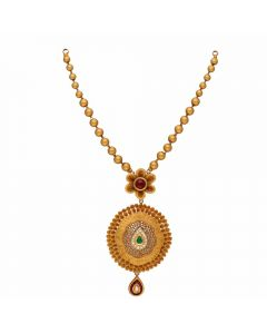 123VG2957 | Vaibhav Jewellers Antique Gold Necklace 123VG2957