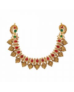 123VG3269 | Vaibhav Jewellers Antique Gold Necklace 123VG3269