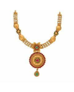 123VG3511 | Vaibhav Jewellers Antique Gold Necklace 123VG3511