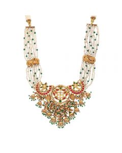 123VG3658 | Antique Kundan Necklace 123VG3658