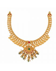 123VG3723 | Vaibhav Jewellers Antique Gold Necklace 123VG3723