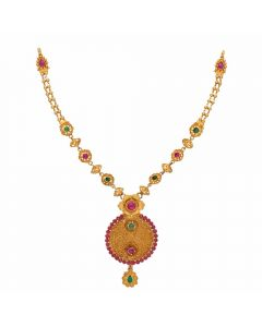 123VG3808 | Vaibhav Jewellers Antique Gold Necklace 123VG3808