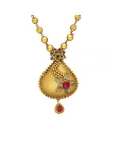 123VG3869 | Vaibhav Jewellers 22K Antique Gold Necklace 123VG3869
