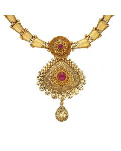 123VG4097 | Vaibhav Jewellers 22K Antique Gold Necklace 123VG4097