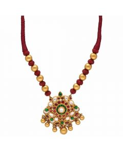 123VG4207 | Vaibhav Jewellers 22K Antique Gold Necklace 123VG4207