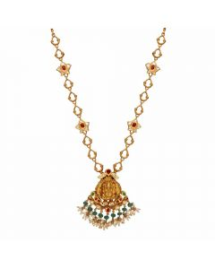123VG4289 | Vaibhav Jewellers Antique Gold Necklace 123VG4289