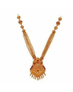 123VG4364 | Antique Gheru Step Gold Necklace 123VG4364
