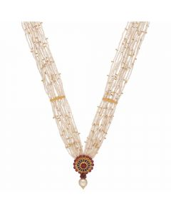 123VG4471 | Vaibhav Jewellers 22K Antique Gold Necklace 123VG4471