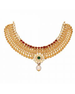 123VG4689 | Vaibhav Jewellers Antique Gold Necklace 123VG4689