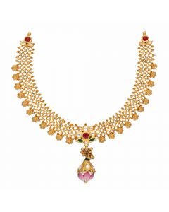 123VG4694 | Vaibhav Jewellers Antique Gold Necklace 123VG4694