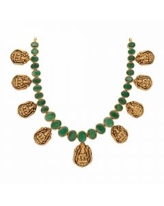123VG4743 | Vaibhav Jewellers Antique Gold Necklace 123VG4743