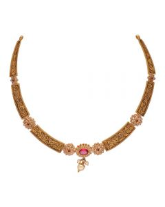 123VG4765 | Vaibhav Jewellers 22K Antique Gold Necklace 123VG4765