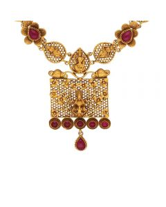 123VG5215 | Vaibhav jewellers Antique Gold Neckalce 123VG5215