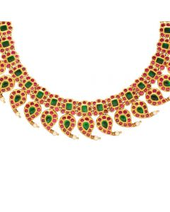123VG5718 | Vaibhav Jewellers Antique Kundan Necklace 123VG5718