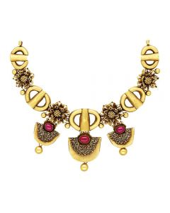 123VG5917 | Vaibhav Jewellers 22K Antique Gold Necklace 123VG5917