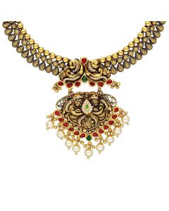 123VG6040 | Vaibhav Jewellers 22K Antique Gold Necklace 123VG6040