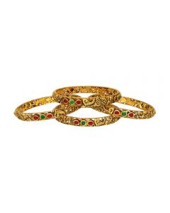 125VG1037 | 22kt Antique Gold Bangles 125VG1037