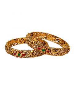 125VG1038 | 22K Antique Gold Bangles 125VG1038