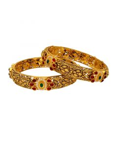 125VG1039 | 22K Antique Gold Bangles 125VG1039