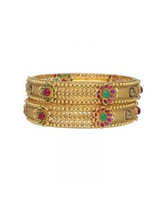 125VG715 | 22k Antique Gold Bangles 125VG715