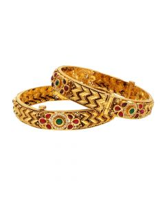 125VG743 | 22kt Antique Gold Bangles 125VG743