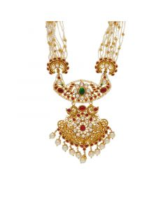 127VG3665 | 22K Gold Antique Necklace with 127VG3665