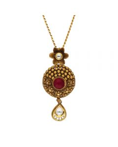 127VG3958 | Vaibhav Jewellers Antique Gold Pendant 127VG3958