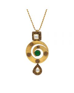 127VG3960 | Vaibhav Jewellers Antique Gold Pendant 127VG3960