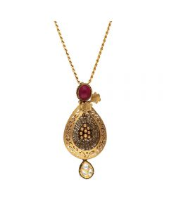 127VG3967 | Vaibhav Jewellers Antique Gold Pendant 127VG3967