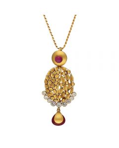 127VG3997 | Vaibhav Jewellers Antique Gold Pendant 127VG3997